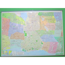 Mapa Mural Capital Federal (caba) Y Gba