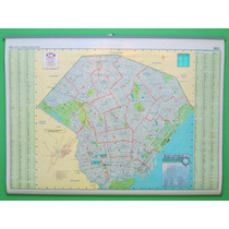 Mapa Mural Capital Federal (caba) 65 X 95 Cm