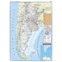 Nuevo Mapa Rutero Argentina En Papel 72 X 102 Cm
