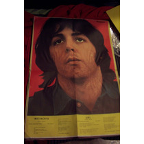 The Beatles Paul Mc Cartney Raro Poster De Época