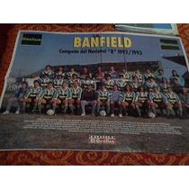 Banfield Campeon Del Nacional B 1992/93 Poster El Grafico