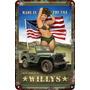 Poster Carteles Antiguos De Chapa 60x40cm Jeep Willys Au-286