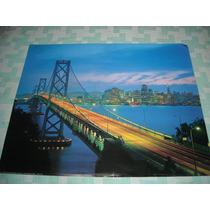 Imperdible Poster Original Paisaje Puente De New York