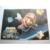Imperdible Poster Original Video Juego Super Mario Galaxy