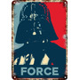 Carteles Antiguos Chapa Darth Vader Star Wars 60x40cm Fi-358