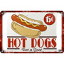Carteles Antiguos Chapa Poster 60x40cm Hot Dogs Al-067