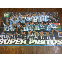 Poster Ole Argentina Campeon Sub 20 . 2001