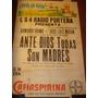 Antiguo Afiche De Papel Cafiaspirina Original