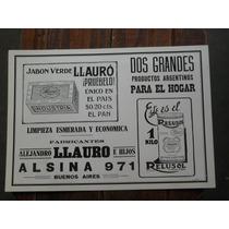 Poster Reproduccion De Publicidad Jabon Llauro Y Relusol