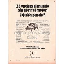 Publicidad Camiones Mercedes Benz Decada ´70