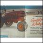 Antiguo Afiche De Tractores Farmall H Y M, Impecable Estado!