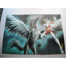 Imperdible Poster Original Anime Caballeros Del Zodiaco