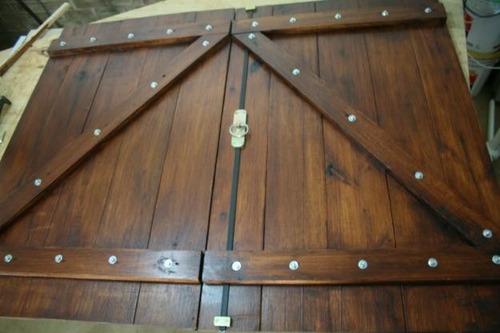 Postigones de madera tipo bariloche para exterior ventanas - Hacer una ventana de madera ...
