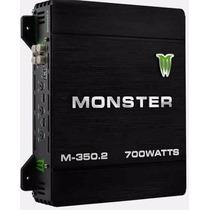 Potencia Monster 700 Watts M350 2 Canales Auto Uno Caseros