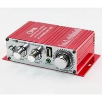 Amplificador Potencia Audio Moto Auto Usb 12v
