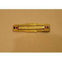 Antiguo Broche Prendedor Bebé Plata Y Oro Esmalte Art Decó