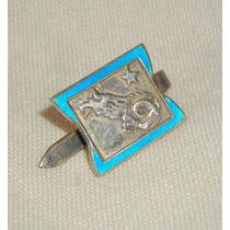 M179 Viejo Pin O Prendedor Plata Signo Zodiaco Aries