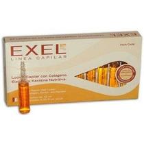 Ampollas Capilar Exel Keratina Colageno Y Elastina Caja X 10