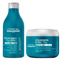 Shampoo + Mascara Baño De Crema Loreal Pro Keratin Refill