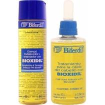 Shampoo + Locion Con Bioxidil Tratamiento Caida Del Cabello