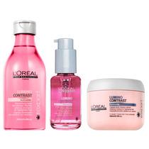 Kit Shampoo + Serum + Mascara Lumino Contrast Loreal Mechas