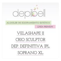 Alquiler Láser Soprano, Velashape 2, Ipl, Criolipolisis.