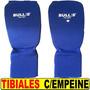 Protectores Tibiales Bulls Con Empeine Ideal Entrenamientos