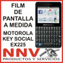 Film Protector De Pantalla Motorola Key Social Ex225 - Nnv