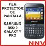 Film Protector De Pantalla Samsung Galaxy Y Pro B5510 - Nnv