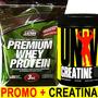 Premium Whey Protein 3 Kg Star + Creatina 300 Gr Universal !