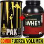 Combo Volumen Animal Pak Universal + Proteina Optimum 5 Lbs
