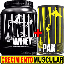 Proteina Animal Whey 2 Lbs Choco + Animal Pak Universal 44