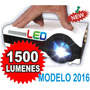 Mini Proyector Led 1500lumens 1080p Tv Ideal Juegos 50.000hs