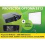 Proyector Optma S312 + Pantalla Loch 84 Con Trípode