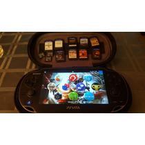 Ps Vita Super Combo + 9 Juegos Memoria 8gb Y 16 Gb Estuche C