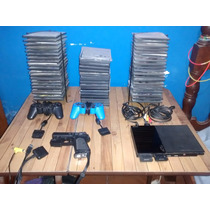 Playstation 2 Slim Chipeada+2 Joysticks+pistola+2 Memorias