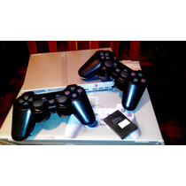 Play Station 2 Chipeada (plateada) + 2 Joystick Inalambricos