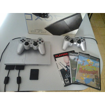 Playstation 2 Chipeada 2 Joystick + Memory Card