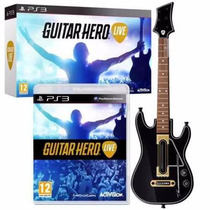 Guitarra Inalámbrica Original Ps3 + Juego Guitar Hero Live