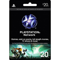 Playstation Psn Card/tarjeta 20 Usd/dolares - Ps3/ps4/psvita