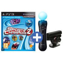 Kit Move Ps3 - Camara Sony Ps3 + Control Move Motion + Juego