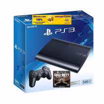 Play 3 Slim Sony 500gb 1joystick C/garantia Ps3 + Juego