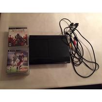 Playstation 3 Slim - 250gb - Perfecto Estado - 8 Juegos