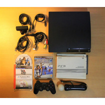 Playstation 3 320gb + Kit Move + 3 Juegos