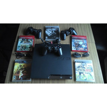 Ps3 160gb Con 3 Joystick Sony Y 5 Juegos Originales
