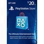 Playstation Psn Card Tarjeta 20 Usd Dolares Ps3 Ps4 Psvita