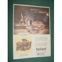 Publicidad Automoviles Chrysler Valiant 2 - Motor 137 Hp