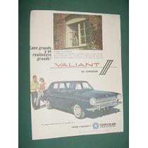 Publicidad Automoviles Chrysler Valiant 3 - Luce Grande