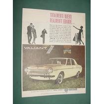 Publicidad Automoviles Chrysler Valiant 3 Totalmente Nuevo