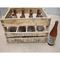 Antiguo Cajón Cerveza Bieckert-11 Botel De 650cc.liquido Ya